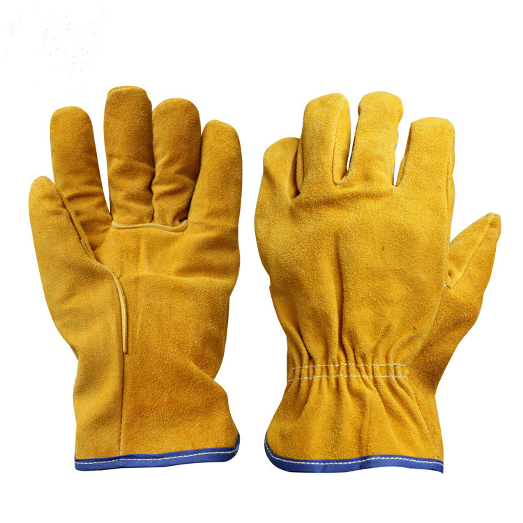 Finger Protection Best Cheapest Leather Safety  Gloves For Work