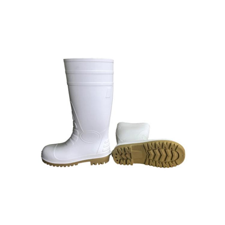 BLACK PVC SAFETY BOOTS RAIN BOOTS STEEL HEAD RUBBER SOLE NON-SLIP WATERPROOF ANTI-SMASHING ANTI-PIERCING FB-E0108