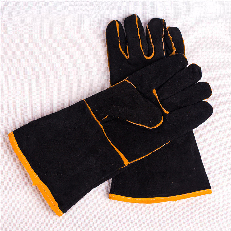 CHINESE TOP QUALITY HEAT RESISTANT COW SPLIT LEATHER SAFETY WELDING GLOVE