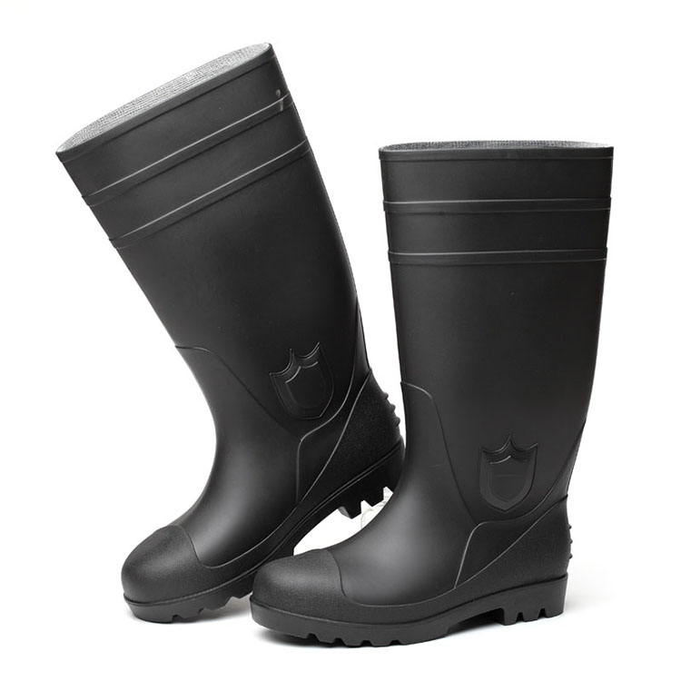 GOOD QUALITY GENUINE LEATHER HIGH ANKLE SAFETY FOOTWEAR FB-E3003
