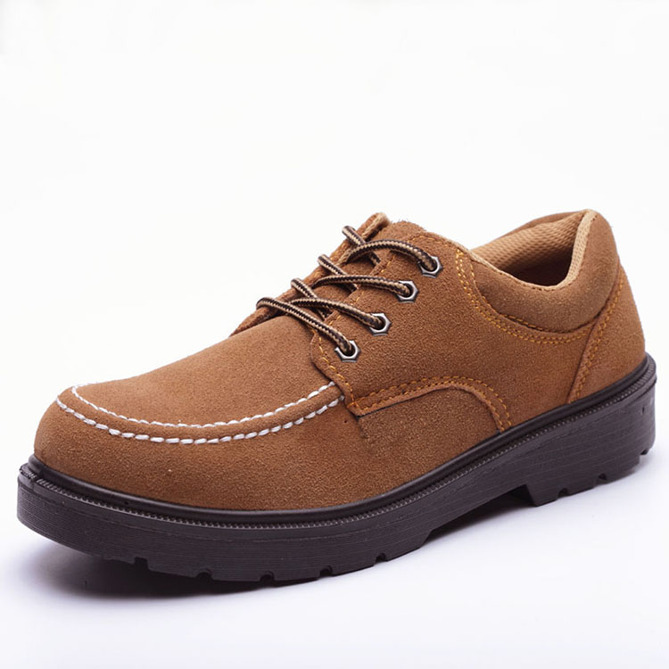 GOOD QUALITY GENUINE LEATHER HIGH ANKLE SAFETY FOOTWEARShort