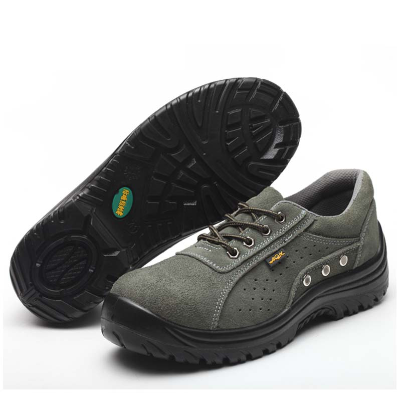 GOOD QUALITY GENUINE LEATHER HIGH ANKLE SAFETY FOOTWEAR