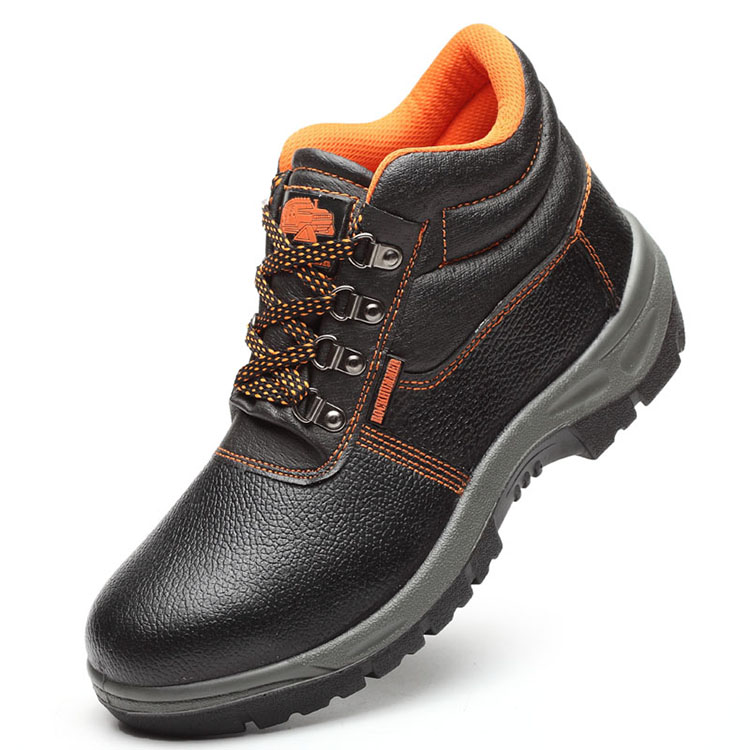 GOOD QUALITY GENUINE LEATHER HIGH ANKLE SAFETY FOOTWEAR FB-E8055