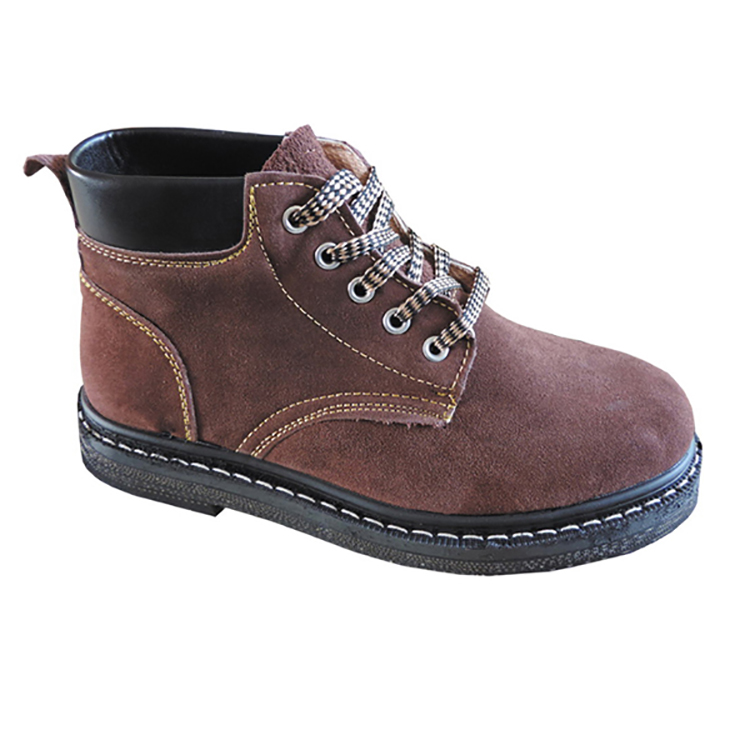GOOD QUALITY GENUINE LEATHER HIGH ANKLE SAFETY FOOTWEAR FB-E8501