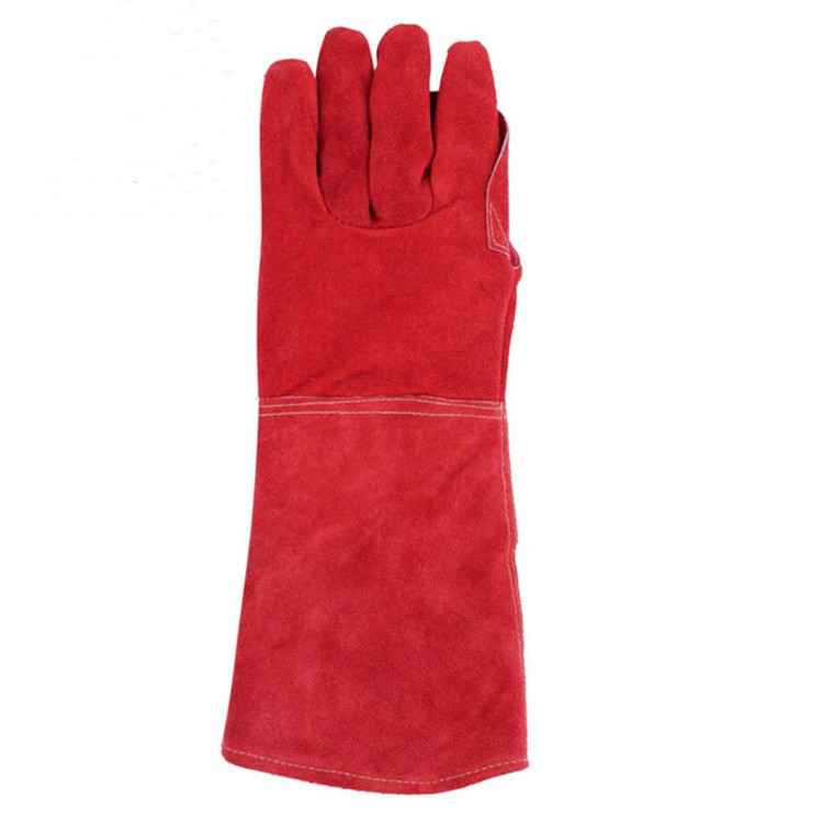 LEATHER GLOVE INDUSTRIAL COW SPLIT LEATHER WORKING SAFETY GLOVE