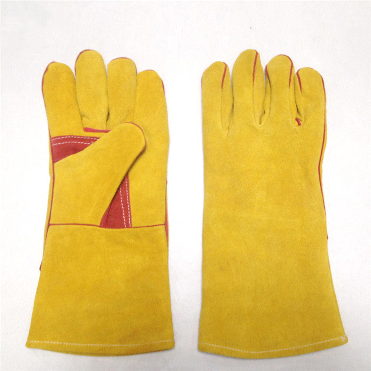Cow Split Leather Electrical Safety Glove Factory