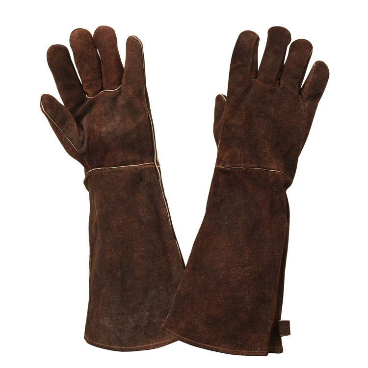 China Cow Split Industrial Garden Cut Resistant Leather Safety Protective Gloves Working