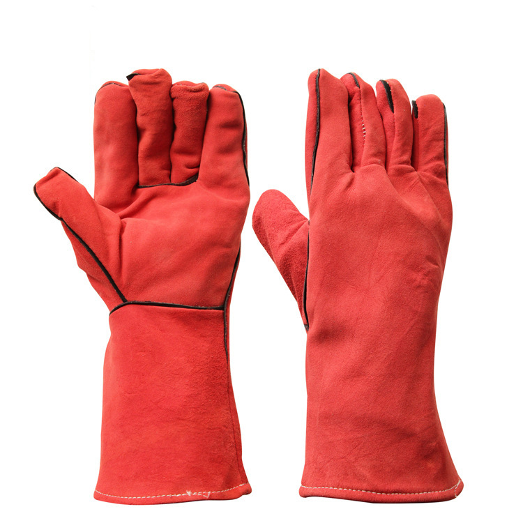 Industrial Welding Resistant Safety Hand Gloves Leather