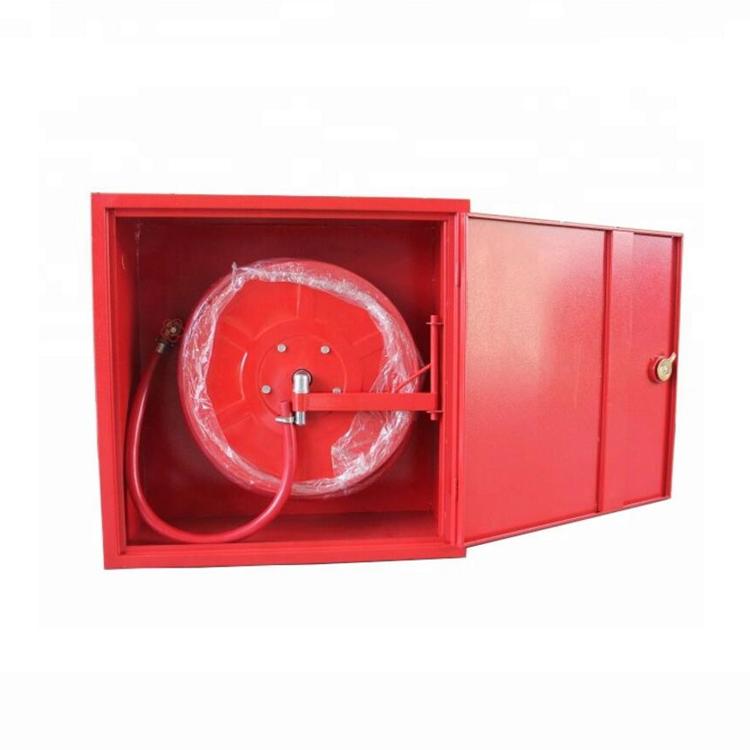 SOLID DOOR RED FIRE HOSE REEL FIRE FIGHTING CABINET